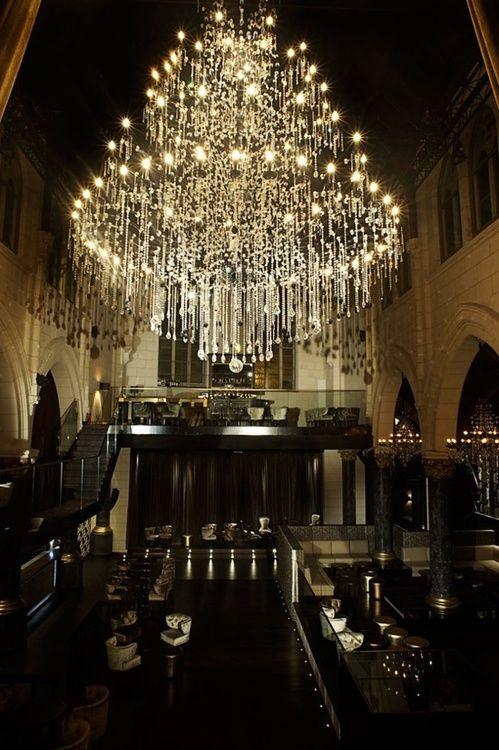 Spirito martini from church to nightclub pinterest huge crystal chandelier aloadofball Images