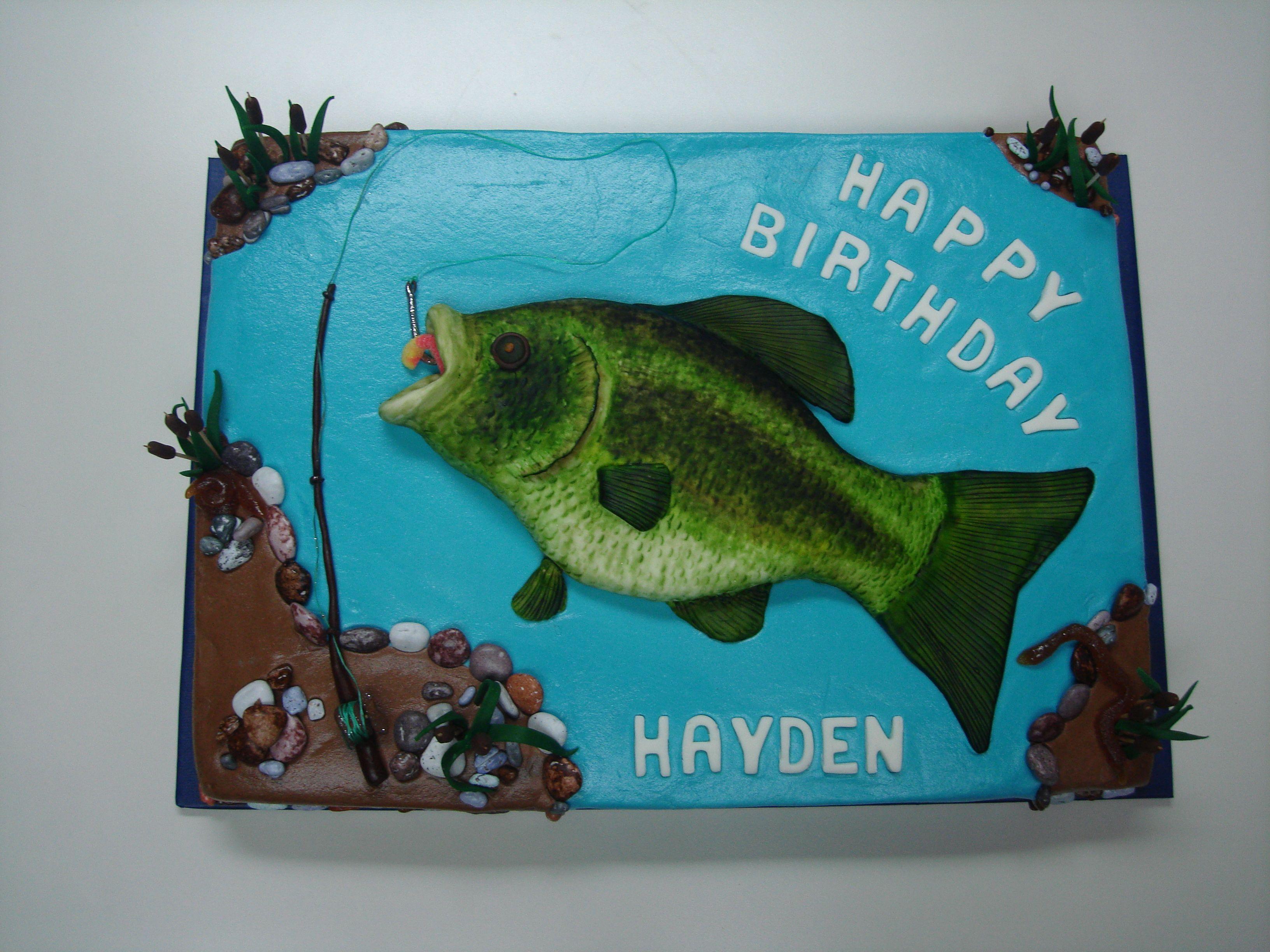 FishingBirthdayCakesforMen Crappie Fish Cake Books