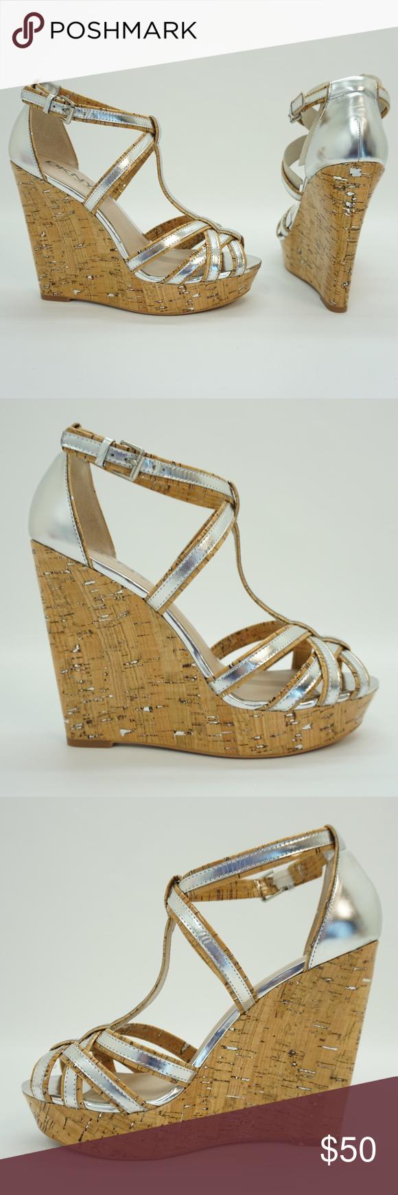 419cadb4adb DKNY Ankle Strap Platform High Heel Wedge Sandals DKNY Womens Shoes ...