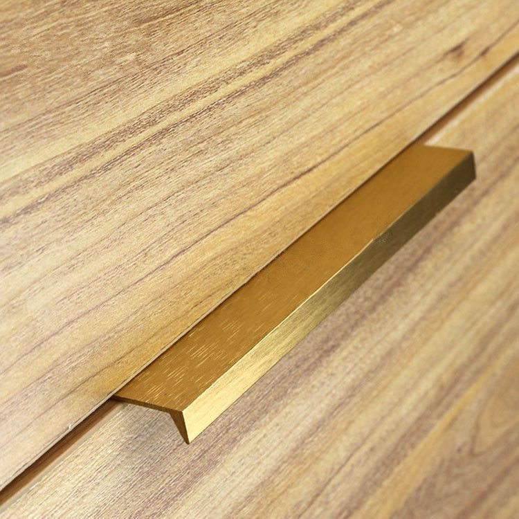 10pcs Modern Simple Cabinet Door Edge Handle Wardrobe Drawer Brushed Gold Hidden Furniture Handle Kitchen Door Handles Modern Furniture Handles Kitchen Handles