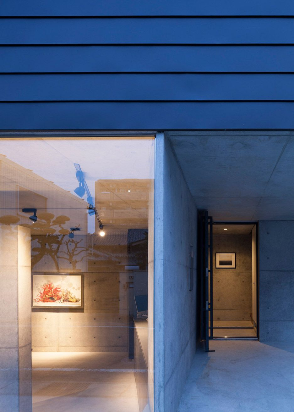 Gaze house in japan also contains an art gallery aichi architects