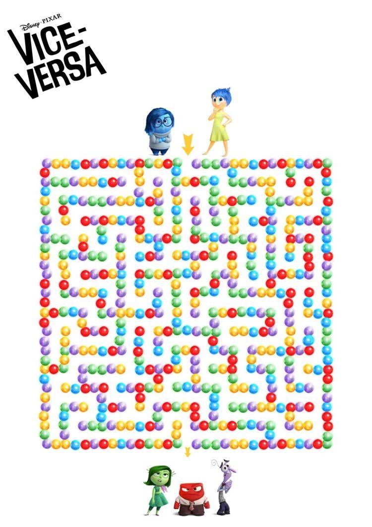 Images à colorier et imprimer Vice Versa  Film inside out, Idée