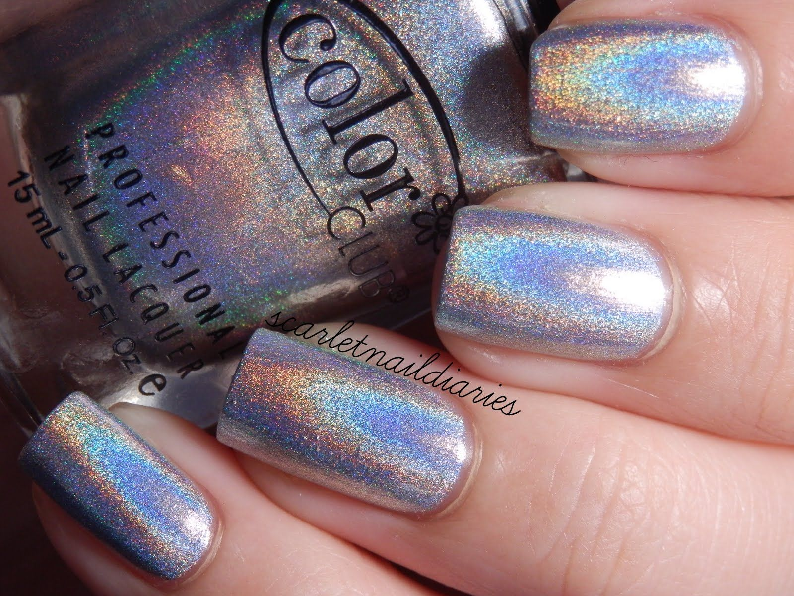 Color Club - Harp On It - Halo Hues Silver Holographic Holo Nail ...