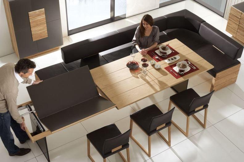 Wohnidee Fürs Esszimmer: Der Esstisch Lässt Sich Individuell Verstellen (Voglauer  Möbel)