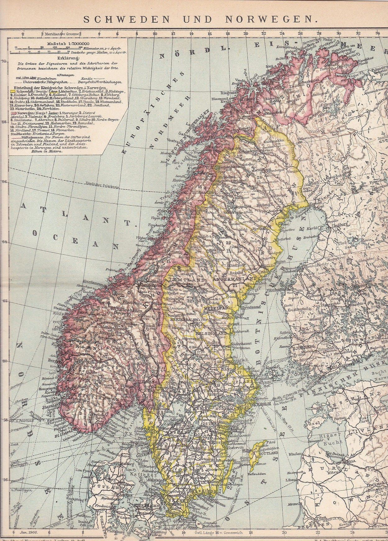 This Item Is Unavailable Etsy In 2020 Political Map Norway Antique Map