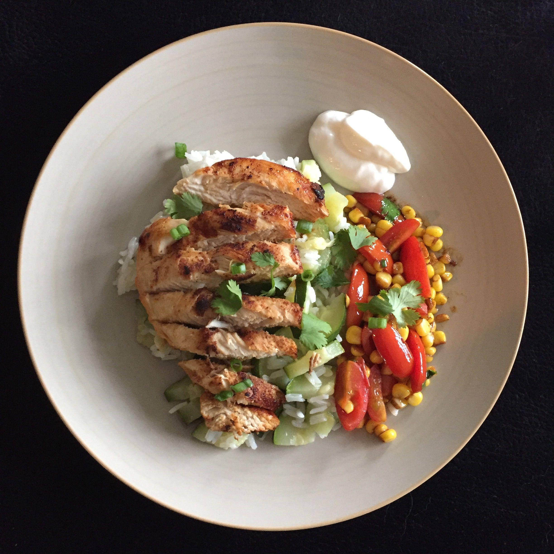 Blue apron zucchini salad - Blackened Chicken With Zucchini Rice Corn Cherry Tomatoes Blueapron