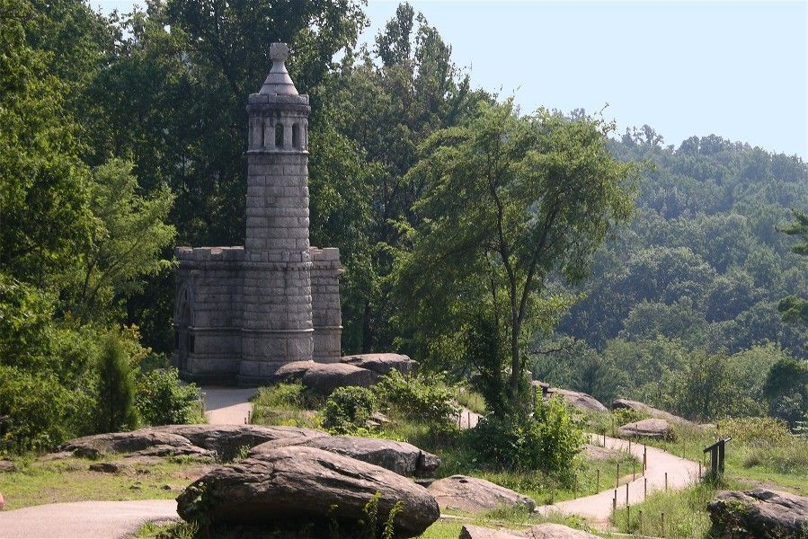 Little Round Top south of Gettysburg, Pennsylvania. - our kids always loved  coming to Little Round … | Civil war monuments, Gettysburg pennsylvania,  Civil war sites