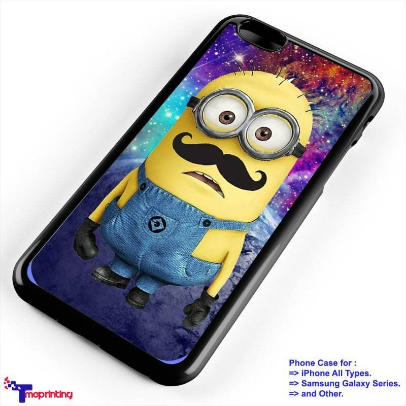 despicable me minions Nebula mustache - Personalized iPhone 7 Case, iPhone 6/6S Plus, 5 5S SE, 7S Plus, Samsung Galaxy S5 S6 S7 S8 Case, and Other
