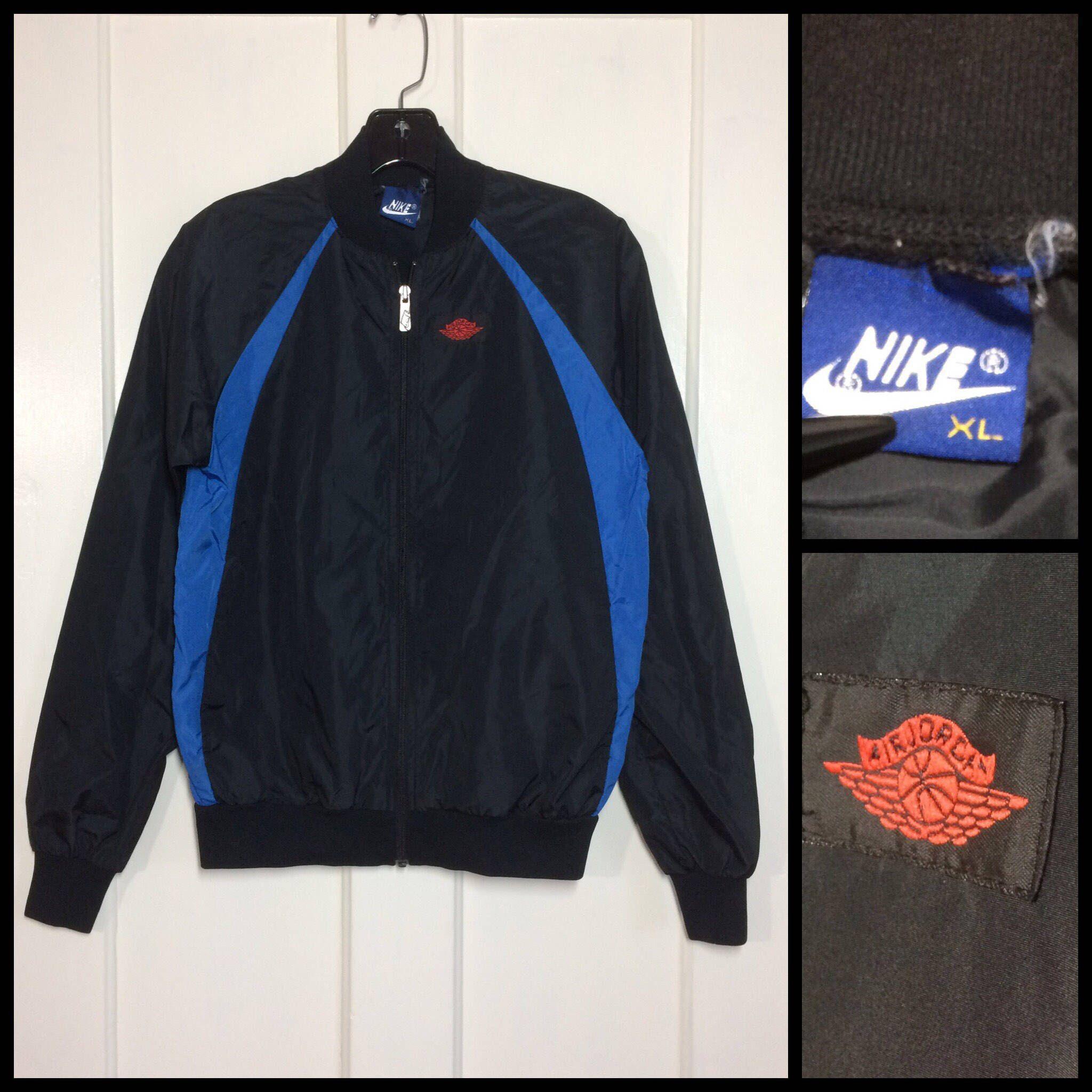 61e3b8840b6e17 ... addition to my  etsy shop  AJ1 1980 s 1985 Air Jordan wings basketball  nylon warm up jogging jacket size youth XL