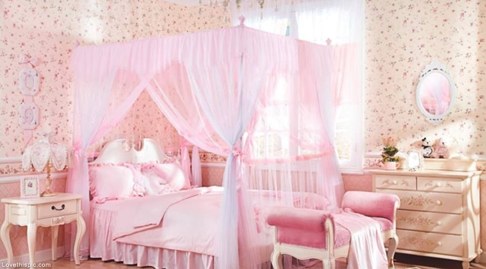 Pretty Pink Canopy Bed Krovat S Baldahinom Dlya Devochki
