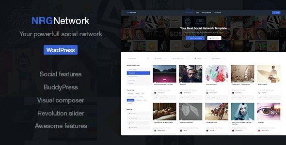 NRGnetwork v1.4.5 Your Powerful Social Network Theme Blogger Template