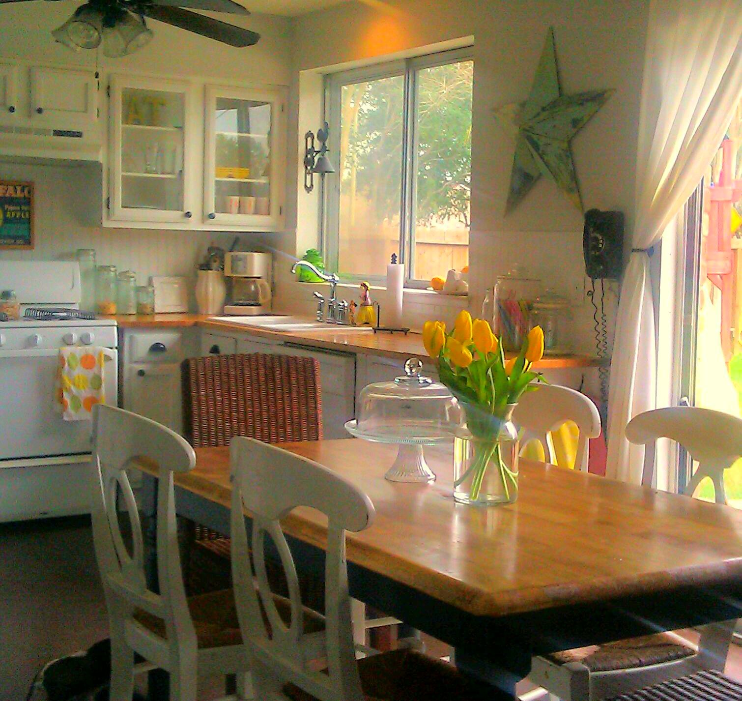 spring like gray kitchen with subtle yellow accents i love my kitchen with images cottage on kitchen ideas yellow and grey id=53786