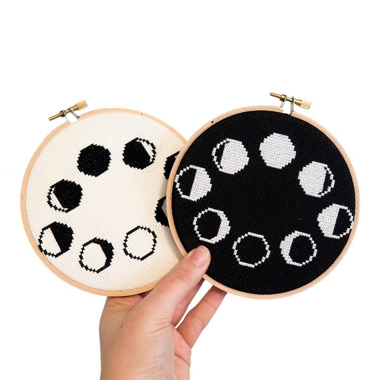 Photo of Moon Phases Cross Stitch Pattern | Bluprint