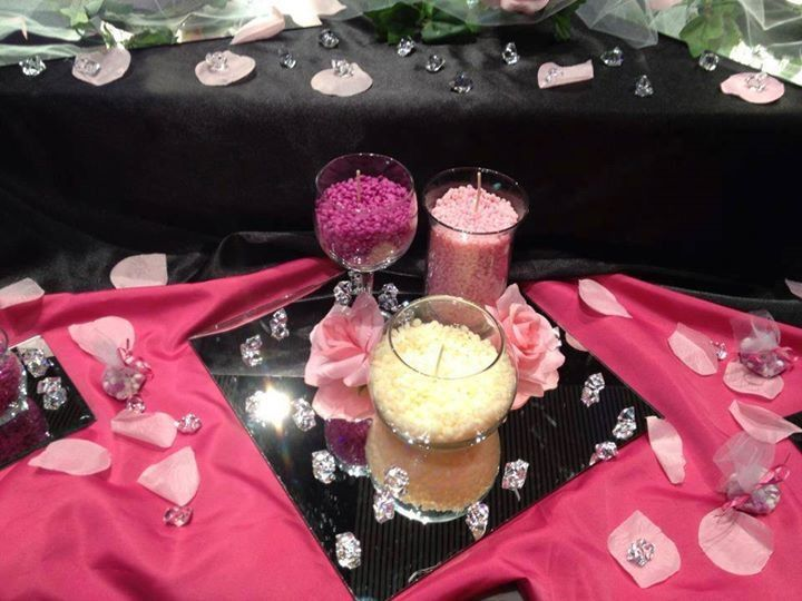 Wedding/Party Decoration Ideas using Sprinkles and Glimmer Candle from Pink Zebra