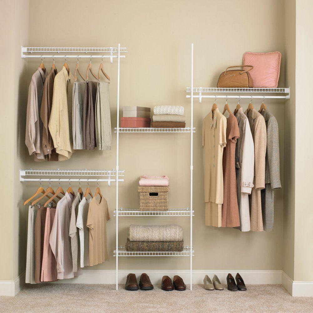 ClosetMaid SuperSlide 5-8 ft. Closet Organizer Kit - Wire Closet ...