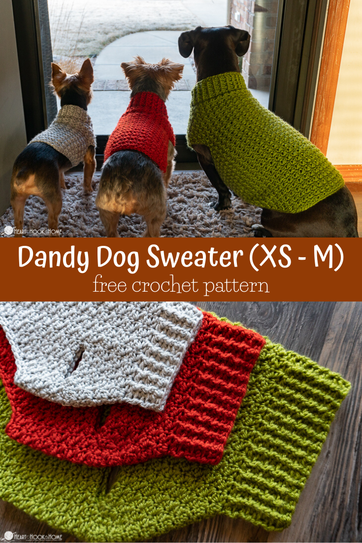 Dandy Dog Sweater: Easy Crochet Dog Sweater Pattern