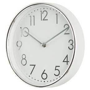 10 Quot Wall Clock Chrome Threshold Target Wall Clock Round Wall Clocks Clock