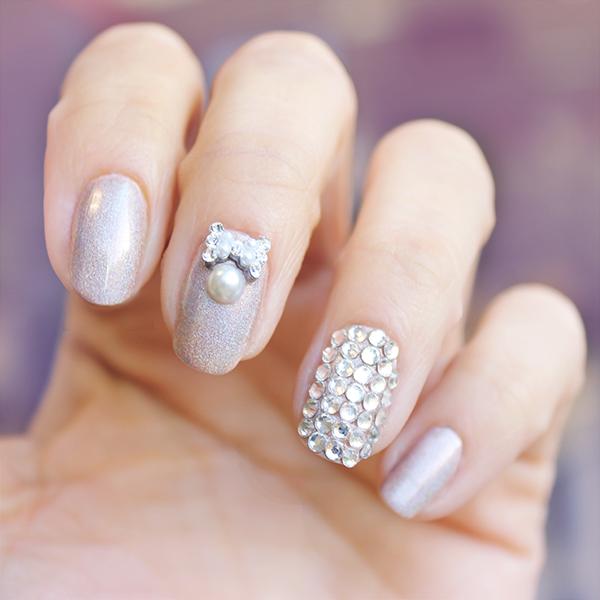 Beautiful wedding nails! #wedding #weddingnails #weddingbeauty ...