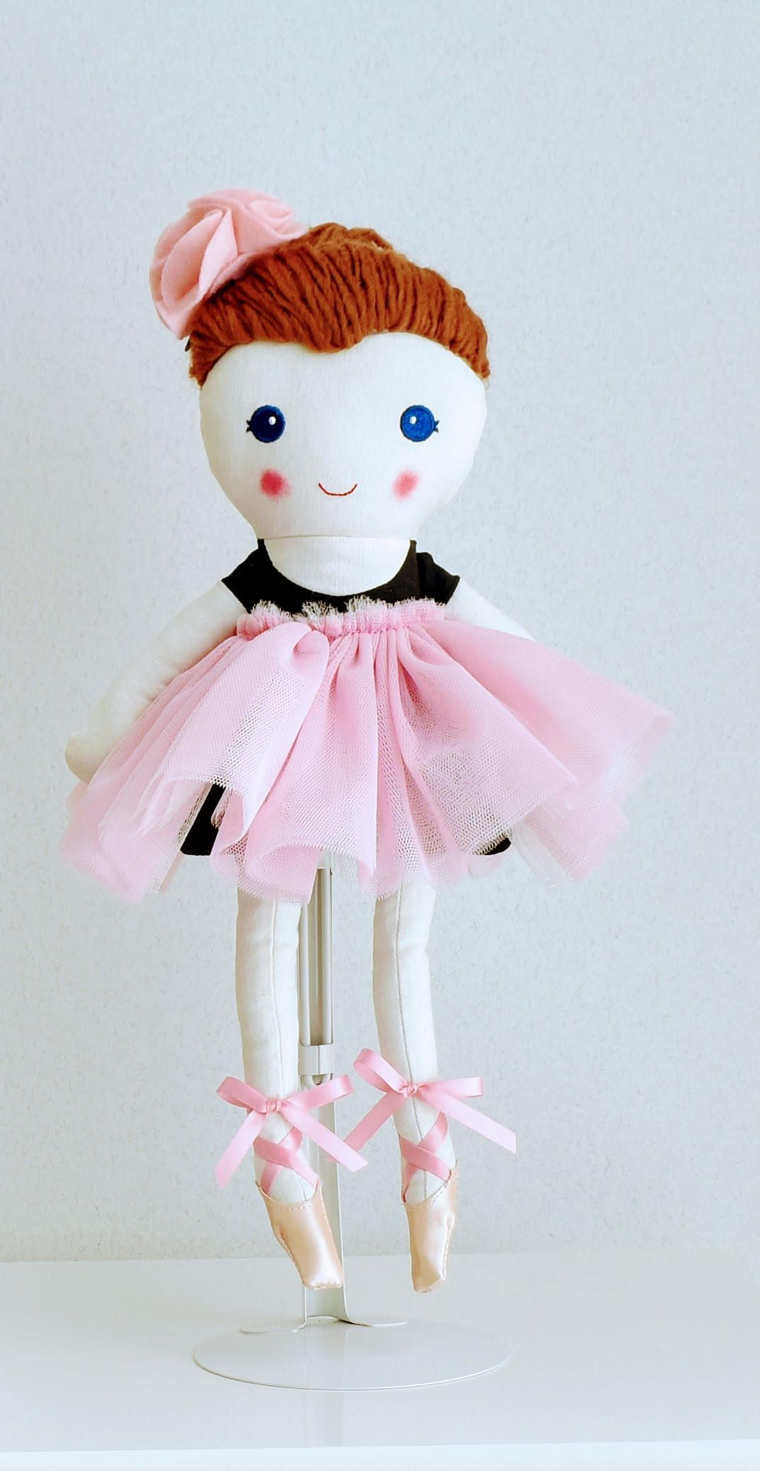 this handmade cloth doll is measuring 36 cm she is wearing a sweet