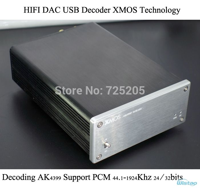 HIFI DAC USB Decoder XMOS Technology Decode AK4399 Support PCM 44.1-1924Khz 24/32bits Whole Aluminum Casing Stereo Free Shipping  US $179.00 / piece
