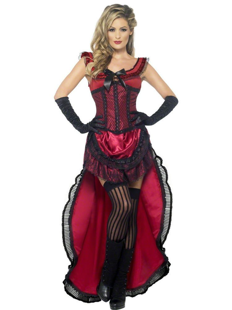 sexy showgirl burlesque dancer saloon wild western can can girl costume - Can Can Dancer Halloween Costume