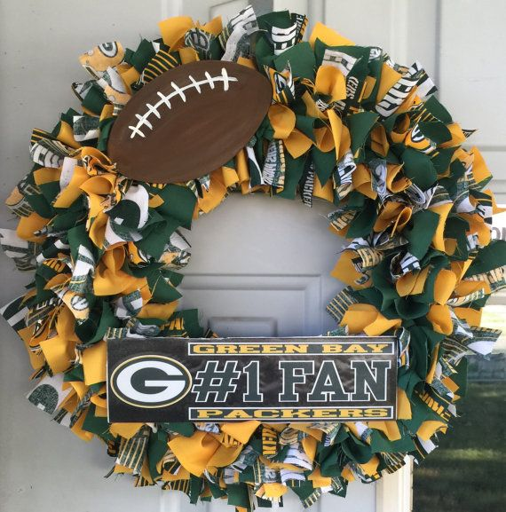 Green Bay Packers Wreath Green Bay Packers Wreath Green Bay Packers Crafts Packers Wreath