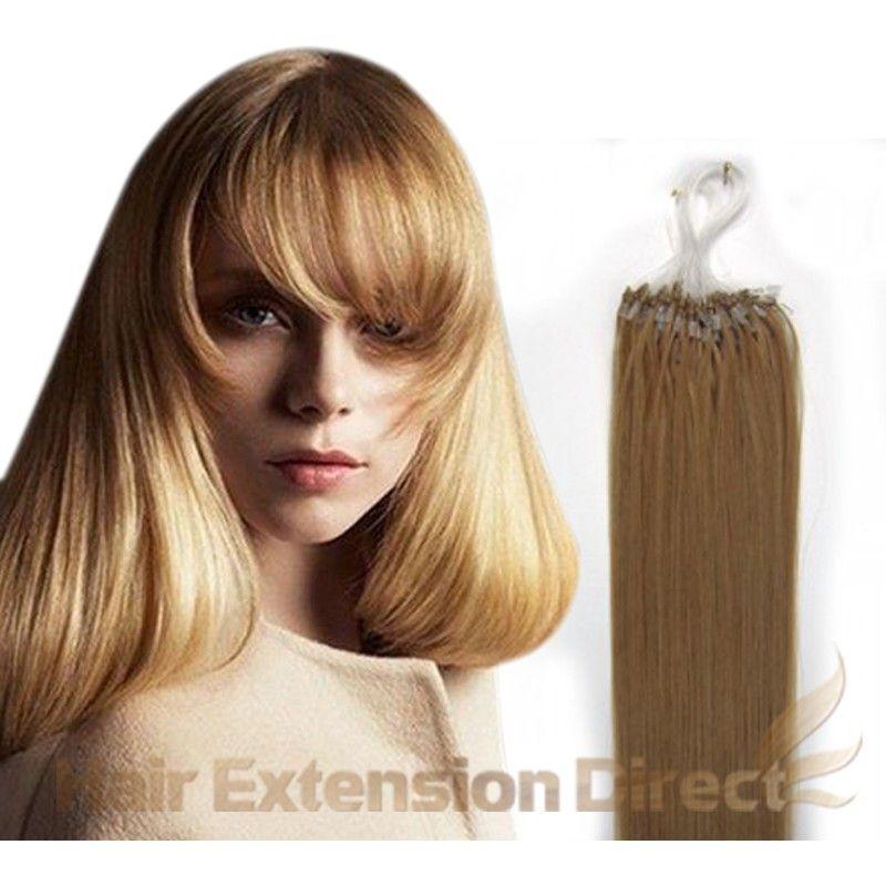 Strawberry Blonde27 100s Micro Loop Human Hair Extensions