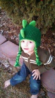 Frederick's Fancies: Custom Animal Hats, dinosaur knit/crochet hat