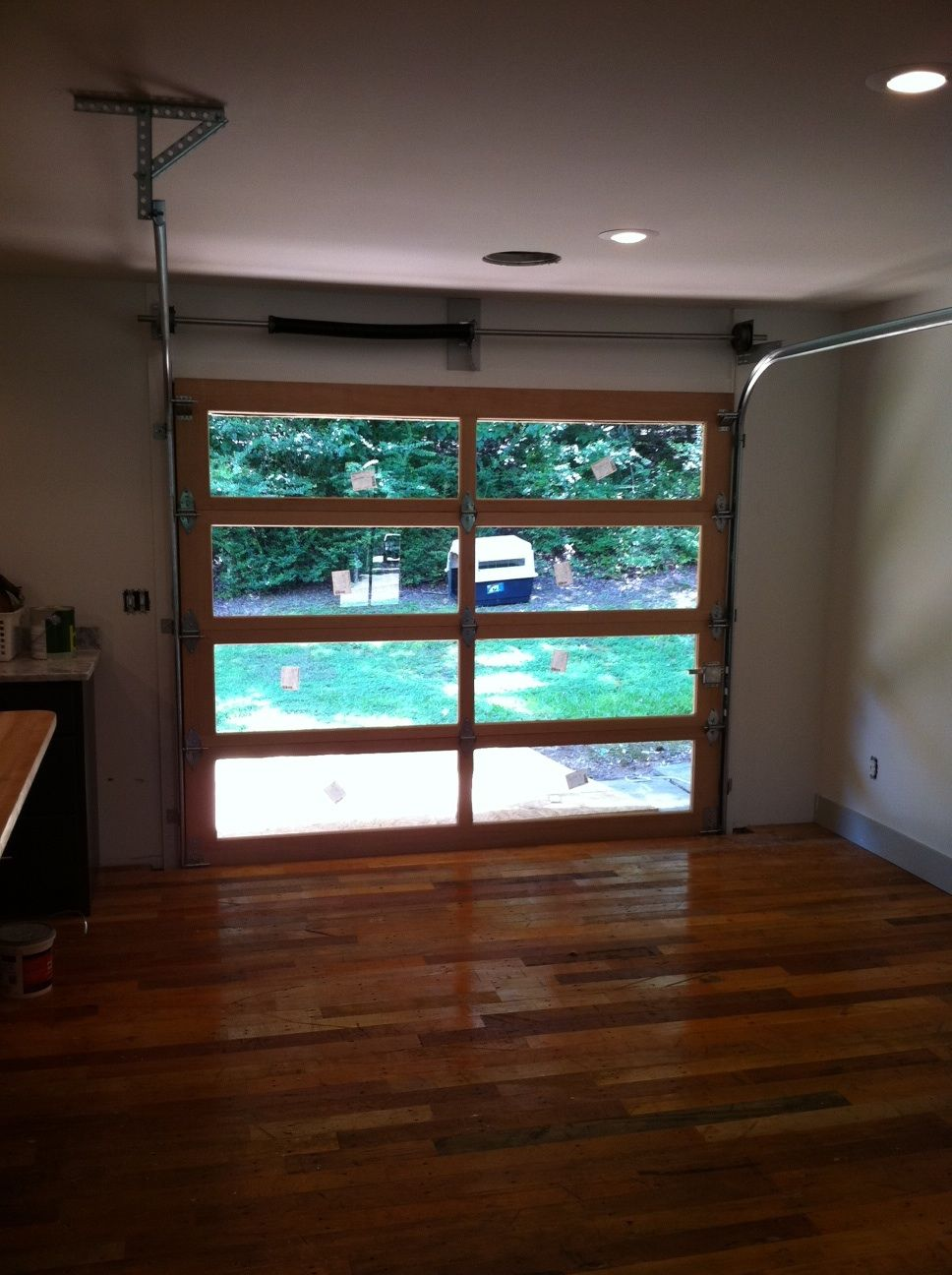 Glass Garage Doors Kitchen