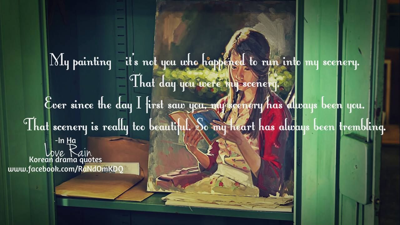 Love Rain | Lines and Quotes from Korean Dramas ...