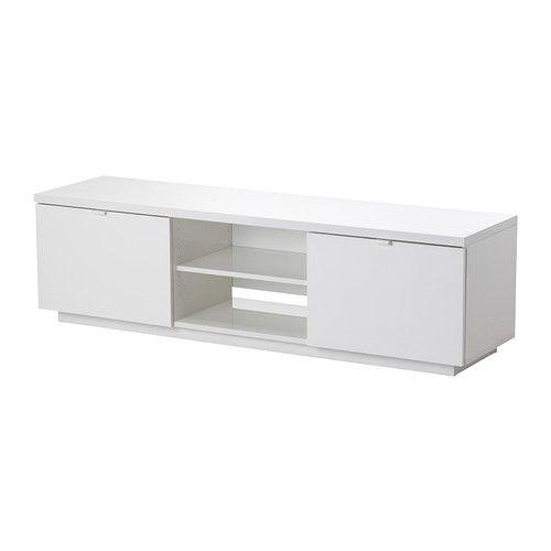 ikea tv bord BYÅS TV unit, high gloss white in 2018 | swanhurst | Pinterest  ikea tv bord