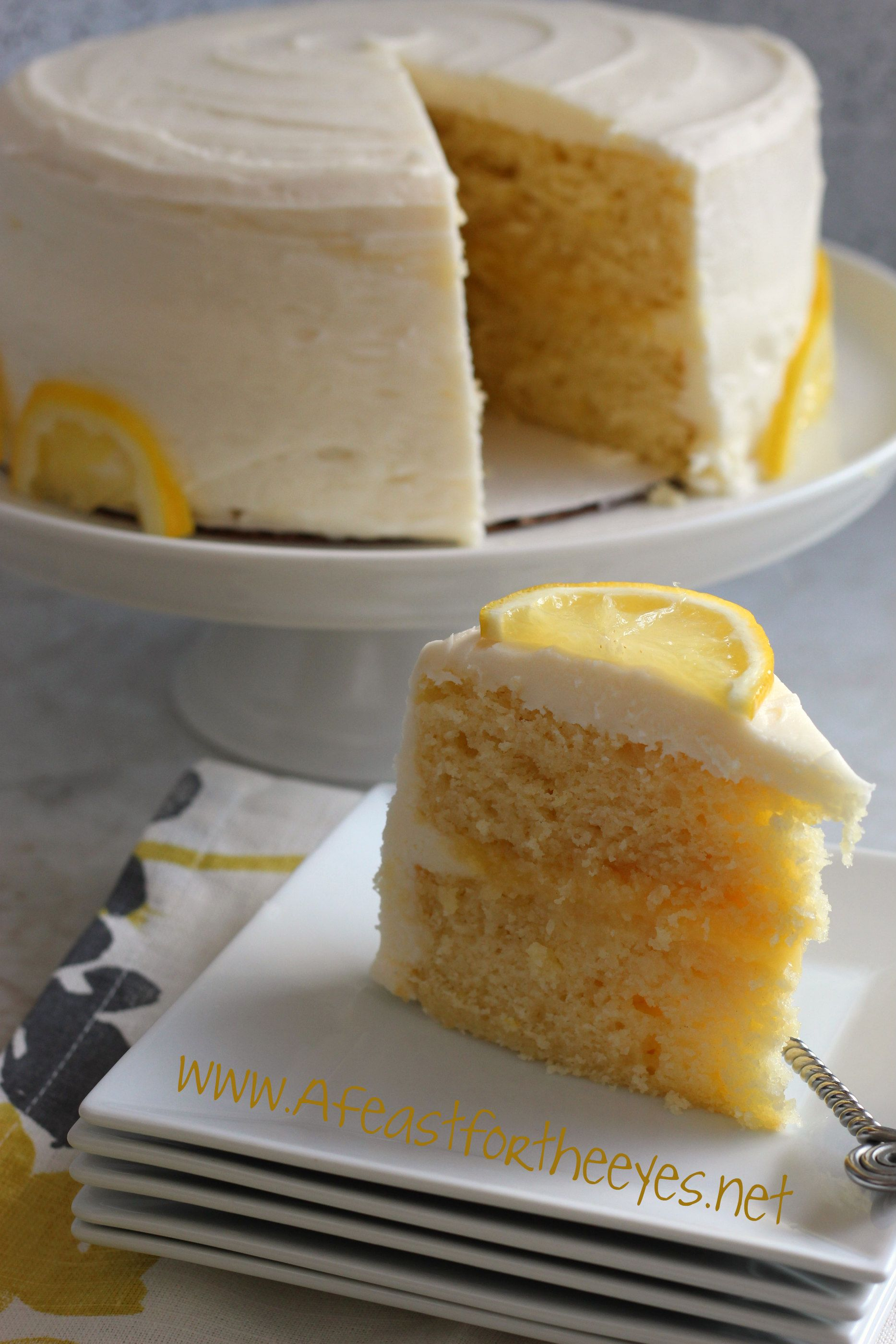 Lemon Buttermilk Layer Cake With Lemon Curd And Cream Cheese Frosting A Feast For The Eyes Recipe Lemon Layer Cakes Lemon Cream Cake Lemon Cream Cheese Frosting