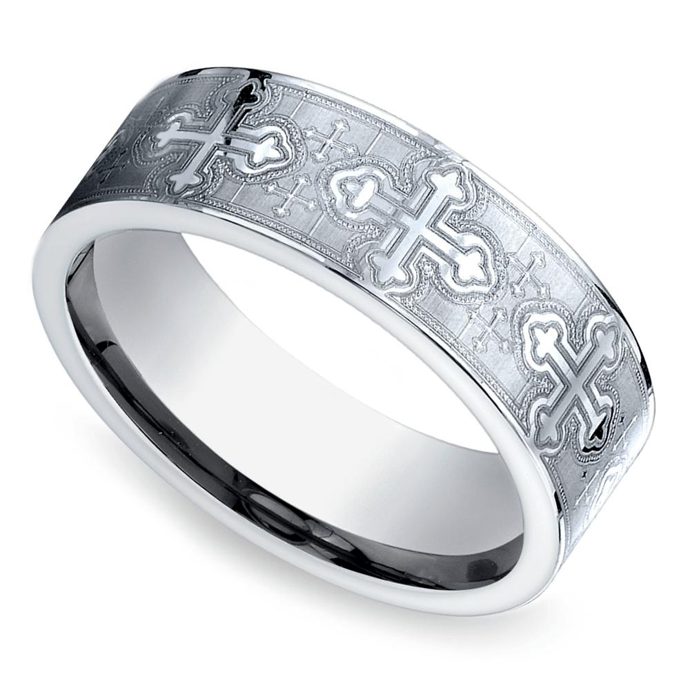 Cross Men's Wedding Ring In Cobalt (7.5mm) Wedding rings