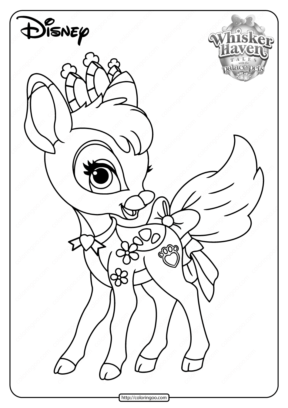 Printable Palace Pets Gleam Pdf Coloring Pages In 2020 Princess Coloring Pages Disney Princess Coloring Pages Rapunzel Coloring Pages