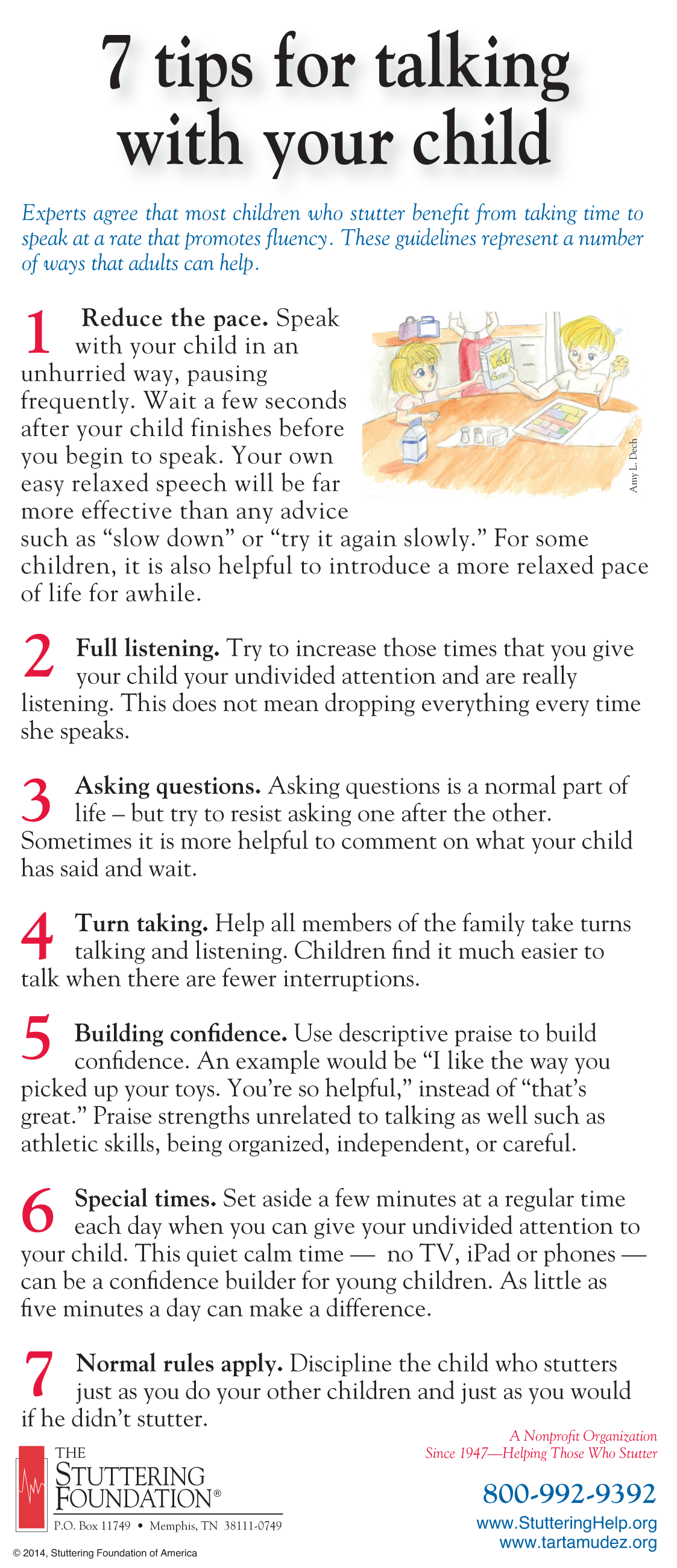 Great Tips To Help Your Stuttering Child Gain More Confidence By The Stuttering Foundation