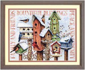Winter Housing, counted cross-stitch