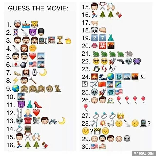 Movies Emoji Quiz Guess The Movie Guess The Emoji