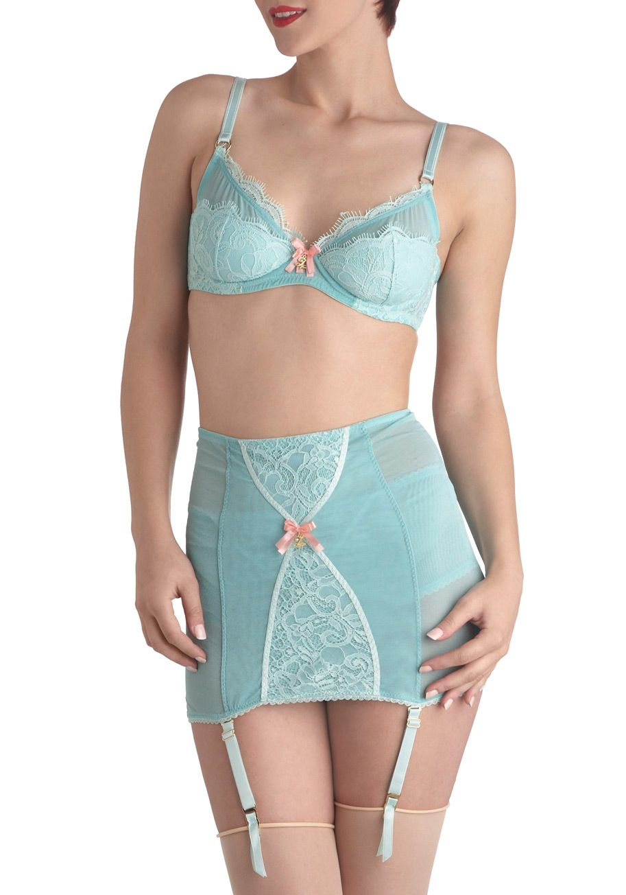 Slipping into the lined back of this breezy mint undergarment is an instant  splash into an imagined land where your mind will vacation for the day!   green   ... 0e0801c94