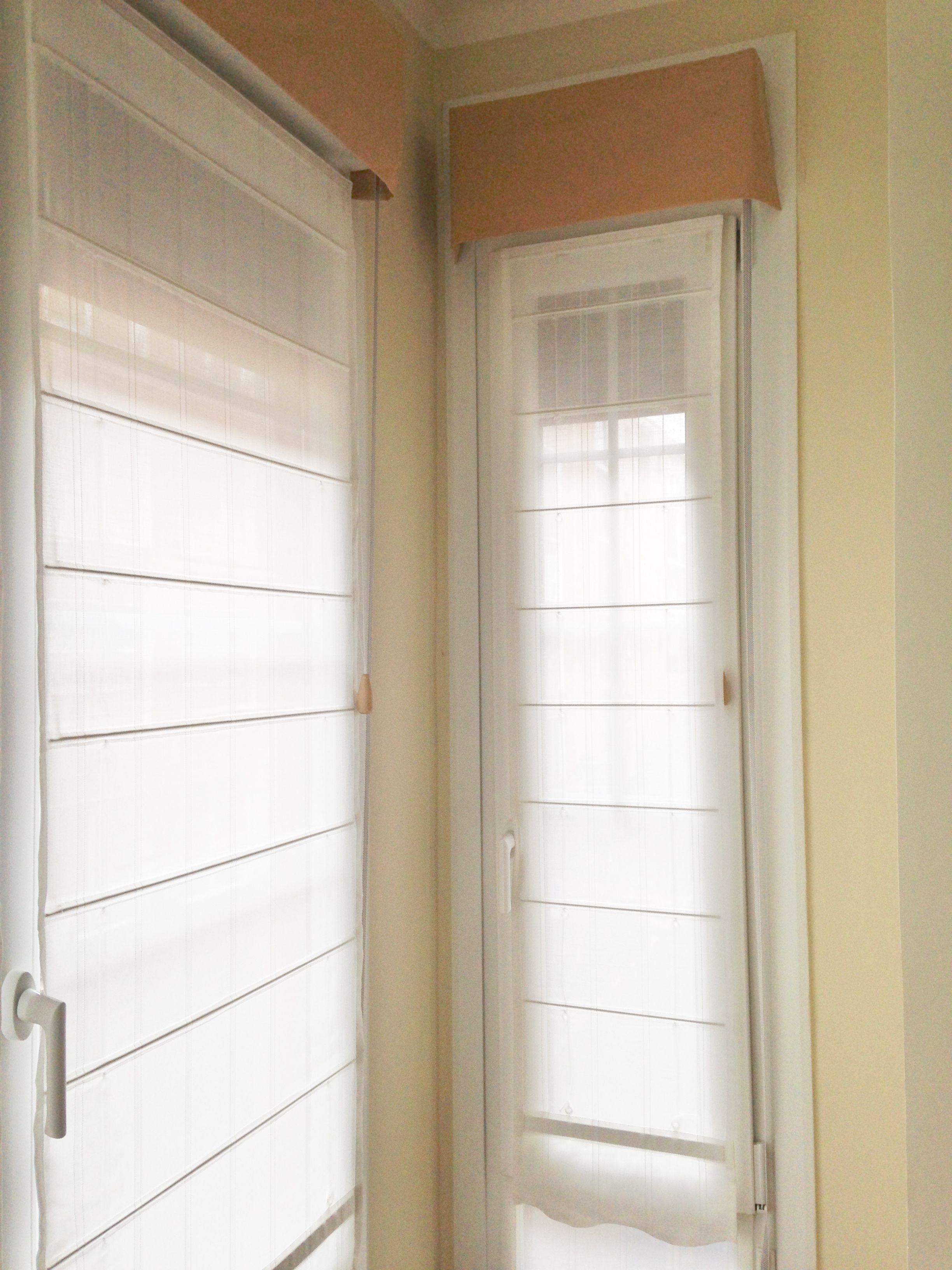 Estor con varilla bajo cristal y bando para caja en mirador cortinas pinterest estor - Estor para ducha ...