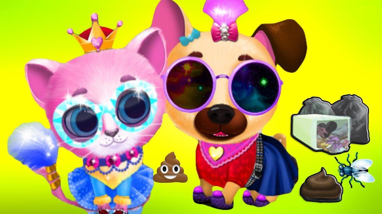 Fun Pet Care Kids Games Cute Kitty Puppy Care Bath Time