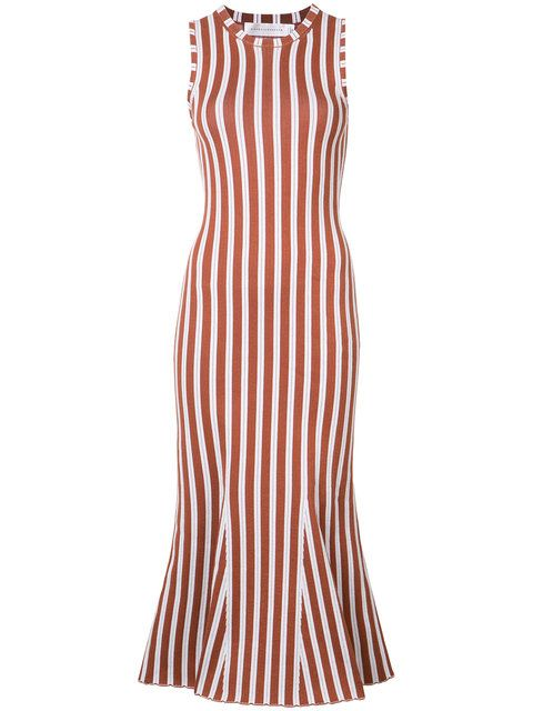 VICTORIA BECKHAM Striped Fitted Dress. #victoriabeckham #cloth #dress