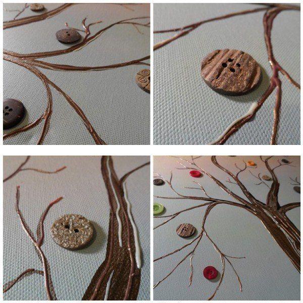 Diy Crafts For Home Decor Button Tree Crafts Work Modern