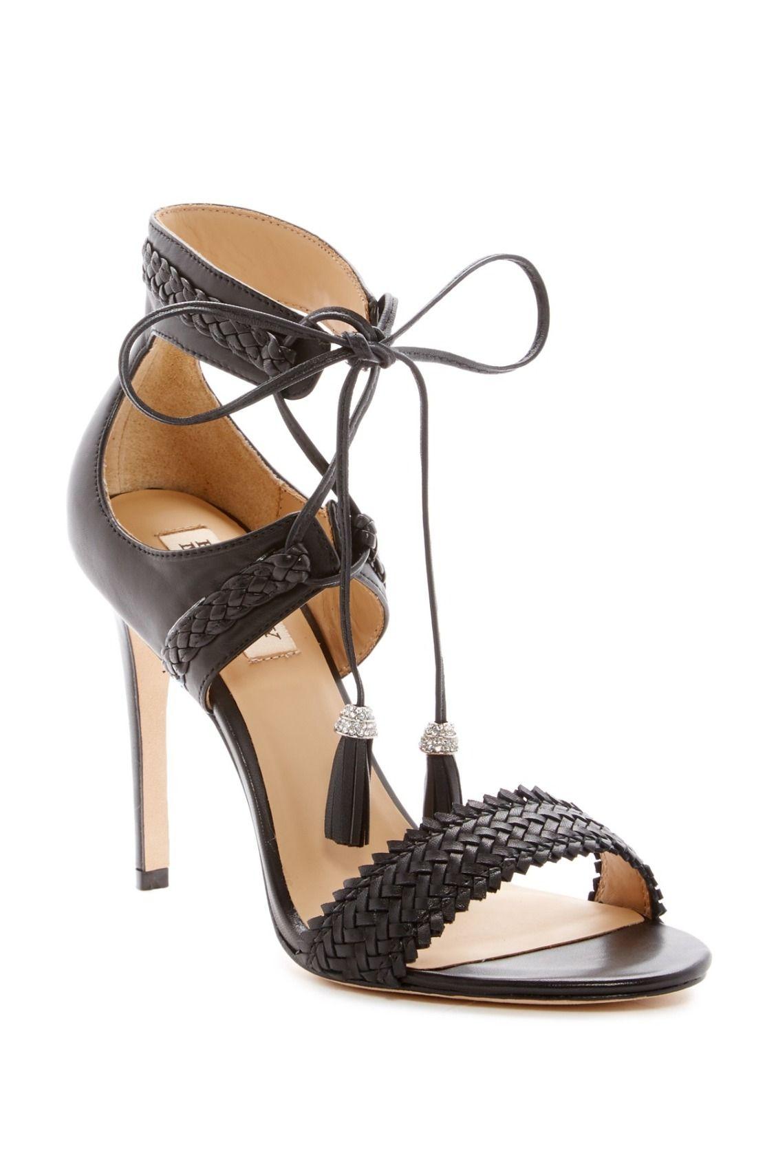 Stunning Badgley Mischka Bombay Ankle-Tie Sandals