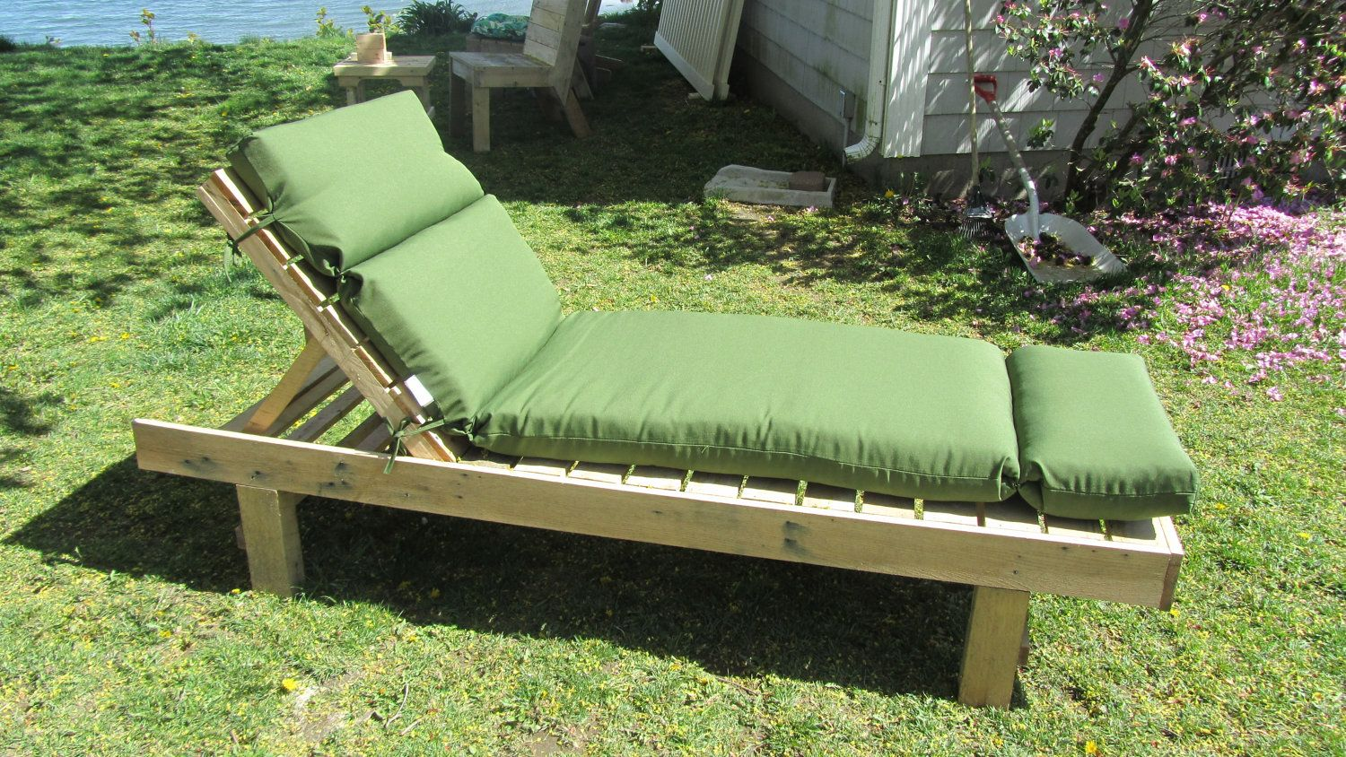 Outdoor Chaise Lounge Made in Maine from by SeasidePalletDesigns, $200.00