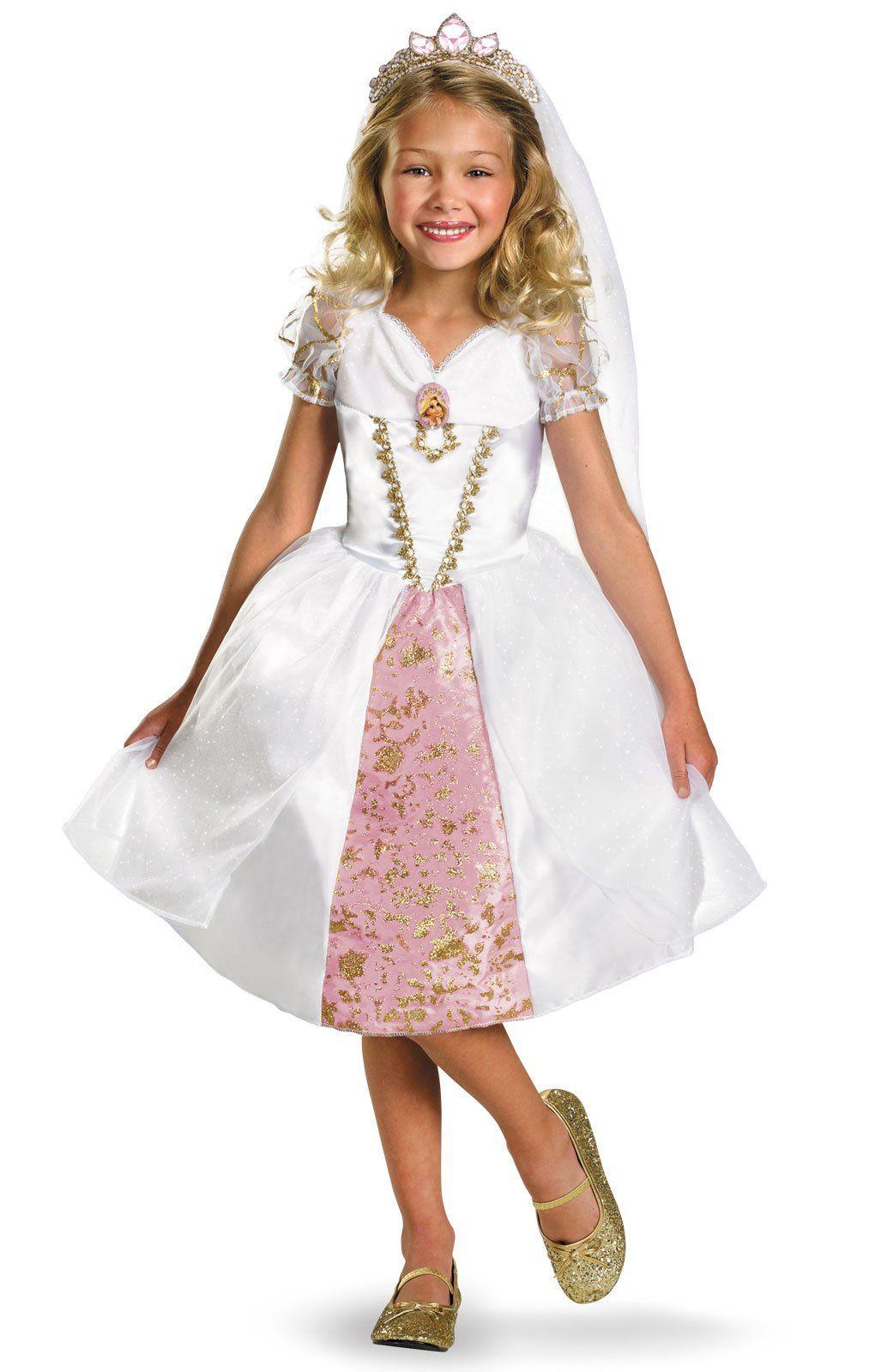 Disney Tangled Rapunzel Wedding Gown Kids Costume ...