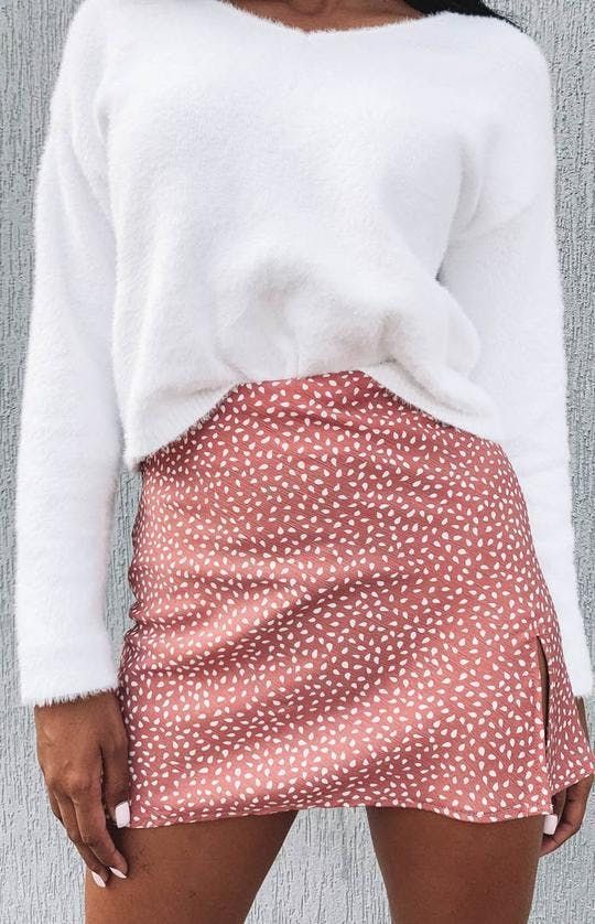 Add some girly glam to your day outfit with the Laura Skirt Blush Print! Pair this pretty little thing with a white crop, some strappy heels or wedges and dainty jewellery for an effortlessly feminine look!Add #some #girly #glam #to #your #day #outfit #with #the #Laura #Skirt #Blush #Print! #Pair #this #pretty #little #thing #with #a #white #crop, #some #strappy #heels #or #wedges #and #dainty #jewellery #for #an #effortlessly #feminine #look! #Outfits