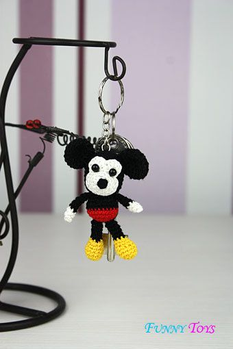 Mickey Mouse, häkeln Schlüsselanhänger, Schlüsselanhänger für Tasche ...