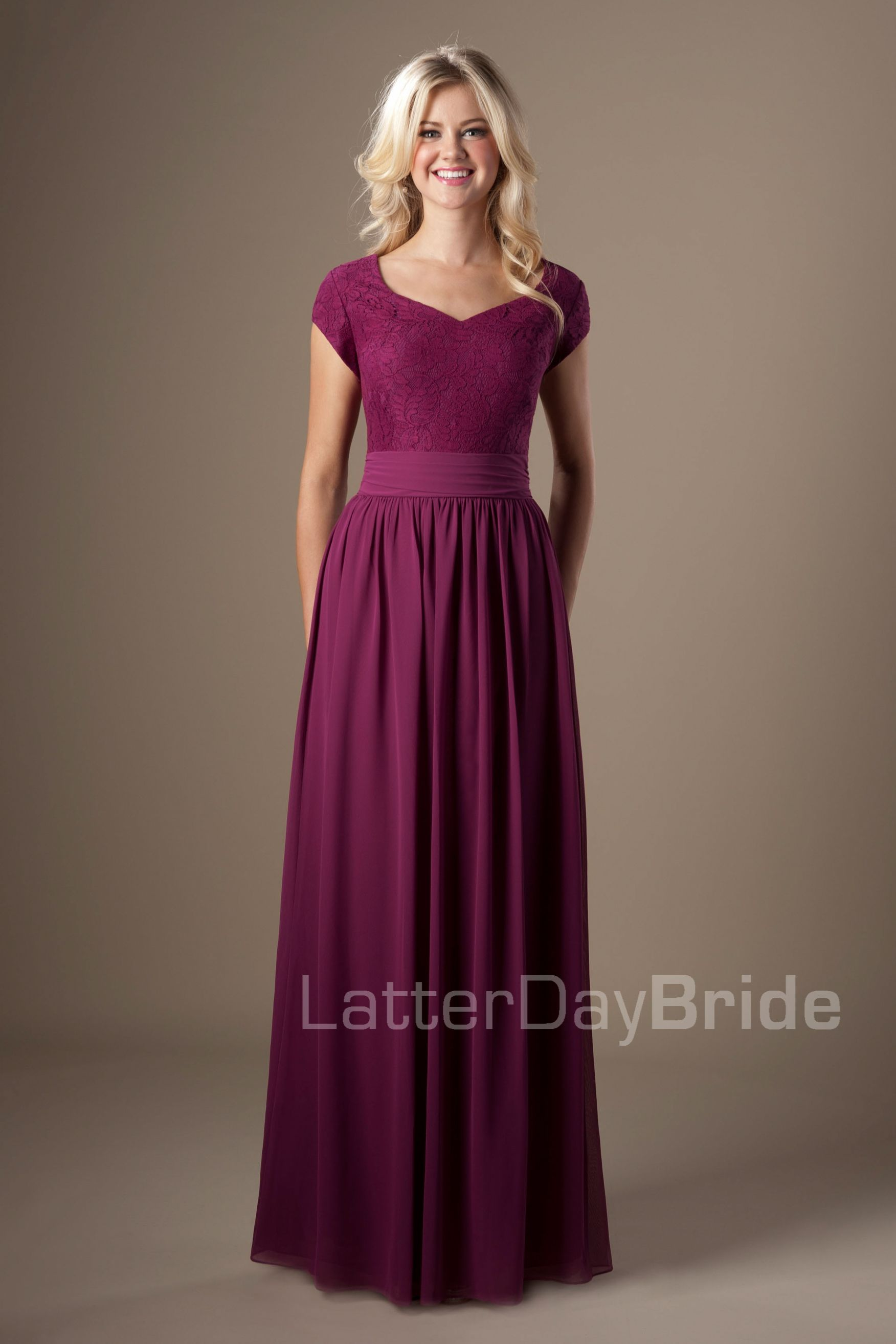 Modest Bridesmaid Dresses : June. Available at Latterday Bride. See ...