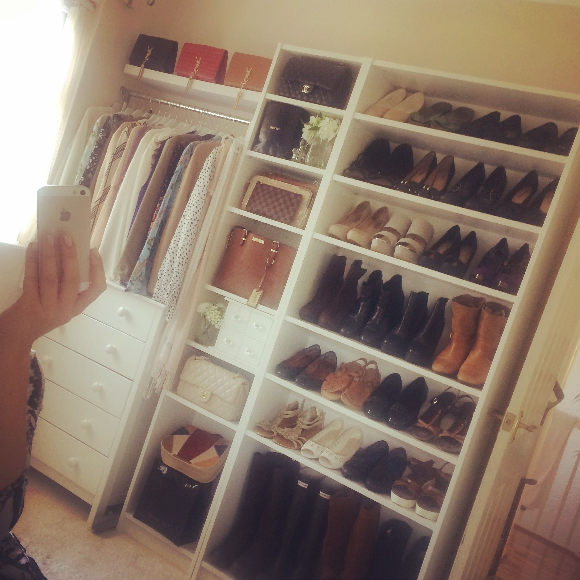 recognized brands uk availability fashion style Billy bookcase. Nice idea for small dressing room/walk in ...