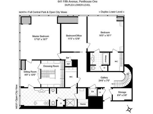 The Surprisingly Modest 15m Olympic Tower Penthouse Penthouse House Floor Plans Floor Plans